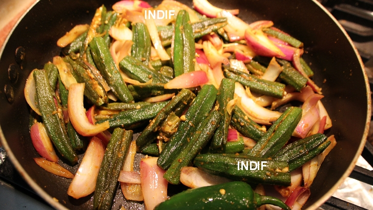 Okra Stuffed - Bhindi Bharwa - Indian Spicy Lady Finger