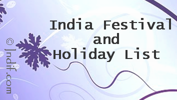 India Holiday and Festival List